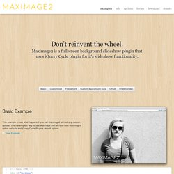 Demo > maxImage Scaling Plugin