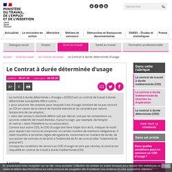 CDD d'usage, taxation de 10 € : ce que dit le code du travail