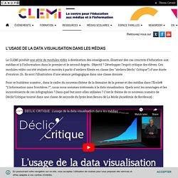 L'usage de la data visualisation dans les médias- CLEMI
