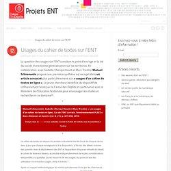 Usages du cahier de textes sur l'ENT