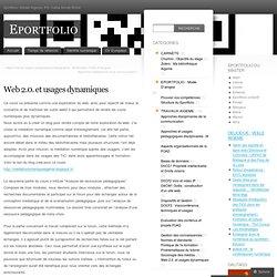 Web 2.0. et usages dynamiques « Eportfolio
