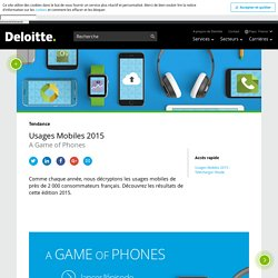 Usages Mobiles 2015 - A Game of Phones