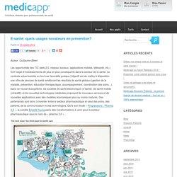 E-santé: quels usages novateurs en prévention?
