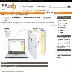 ASH et usages du numérique - S'organiser : la prise de note numérique