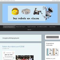 Usages pédagogiques – Des robots en classe