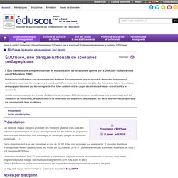 ÉDU'bases (scénarios pédagogiques 2nd degré) - ÉDU'bases, des usages répertoriés pour les enseignants