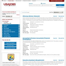 USAJOBS - The Federal Government's Official Jobs Site