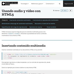 Usando audio y video con HTML5 - HTML
