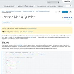 Usando Media Queries - Guia do desenvolvedor web