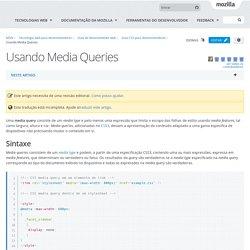 Usando Media Queries - Guia do desenvolvedor web