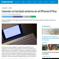 Usando un teclado externo en el iPhone 6 Plus