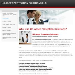 WHY USAPS? - US ASSET PROTECTION SOLUTIONS LLC.