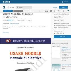 Usare Moodle. Manuale di didattica