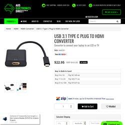 USB 3.1 Type C Plug to HDMI Converter