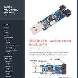 USBASP V2.0 – warning: cannot set sck period, tosiek kodowanie znaków
