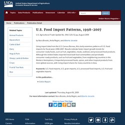 ERS USDA 06/08/09 U.S. Food Import Patterns, 1998-2007