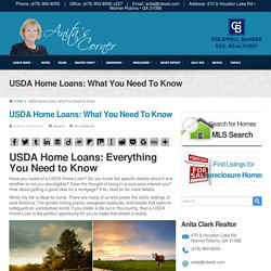 USDA Home Loans: What You Need To Know