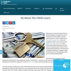 The USDA Loans - Things You Need To Know - Pros And Cons
