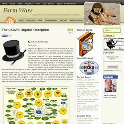 The USDA's Organic Deception