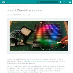 Use an LED matrix as a scanner