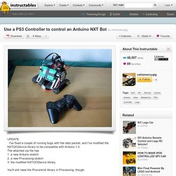 Use a PS3 Controller to control an Arduino NXT Bot