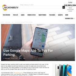 Use Google Maps App To Pay For Parking