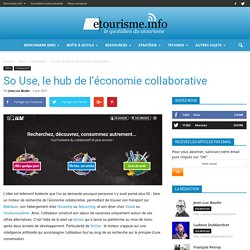 So Use, le hub de l'économie collaborative