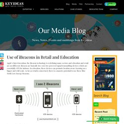 Use of iBeacons in Retail and Education