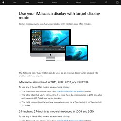 Use your iMac as a display with Target Display Mode
