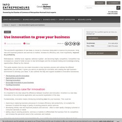 Use innovation to grow your business