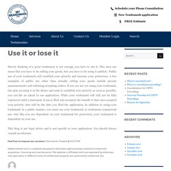 Use it or lose it – My Brand Mark Blog