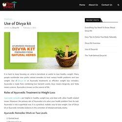 Use of Divya kit