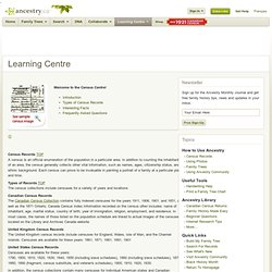 Learning Centre - Ancestry.ca