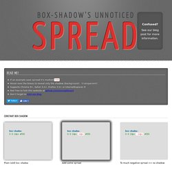 Use spread to manipulate the box-shadow