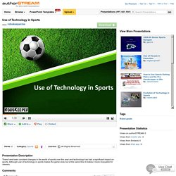 Use of Technology in Sports