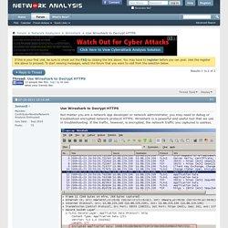 Use Wireshark to Decrypt HTTPS