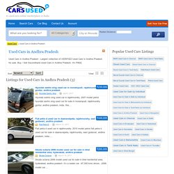 Used Cars in Andhra Pradesh