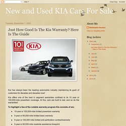What Does Kia Warranty Cover