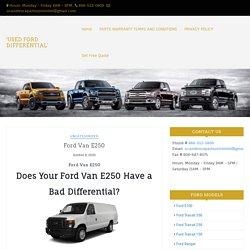 Used E250 Differentials
