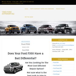 Used F350 Differentials