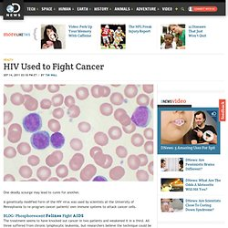 HIV Used to Fight Cancer
