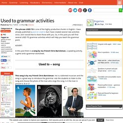 Used to grammar activities