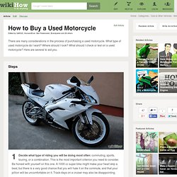 How to Buy a Used Motorcycle: 7 steps (with pictures)