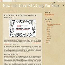 Kia Car Parts & Body Shop Services at Westside Kia