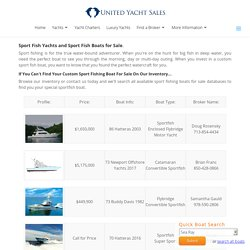 Used Sport Fish boats for sale