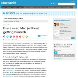 Buy a used Mac (without getting burned)