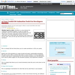 15 Very Useful CSS Animation Tools For Developers