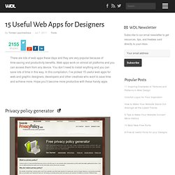 15 Useful Web Apps for Designers