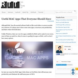 Useful MAC Apps That Everyone can Have (With Video)
