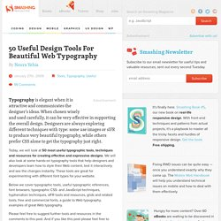 50 Useful Design Tools For Beautiful Web Typography